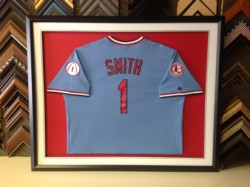 St. Louis Custom Framed Jersey Ozzie Smith