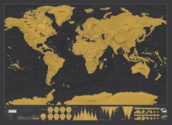 Scratch Off World Map Custom Framing