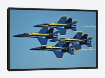 custom framed st. louis airshow blue angels